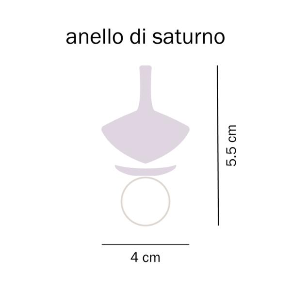 dimensioni anello di saturno con trottola del Tarlo