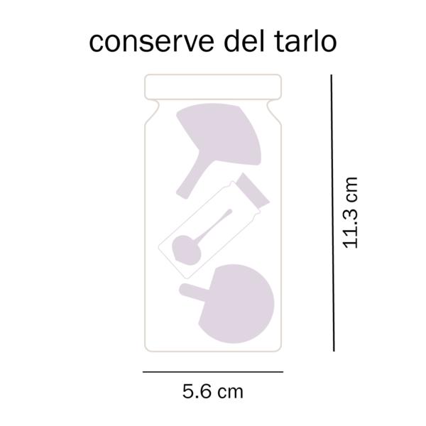dimensioni conserve trottole del Tarlo