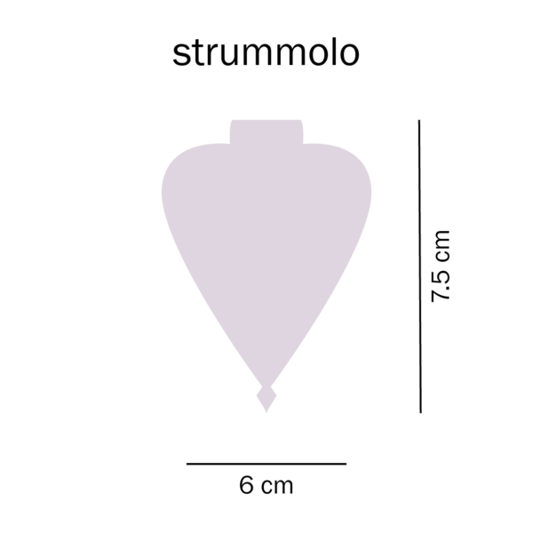 dimensioni trottola strummolo del Tarlo