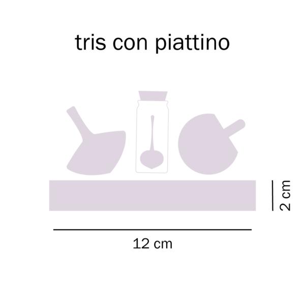 dimensioni Tris trottole con piattino Tarlo