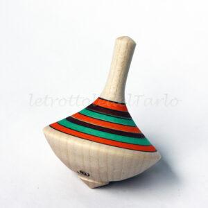 trottola venere - realizzata e decorata a mano con colori e finitura all'acqua