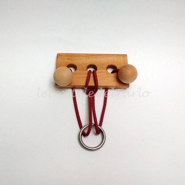 ariete: rompicapo in legno del Tarlo realizzato a mano