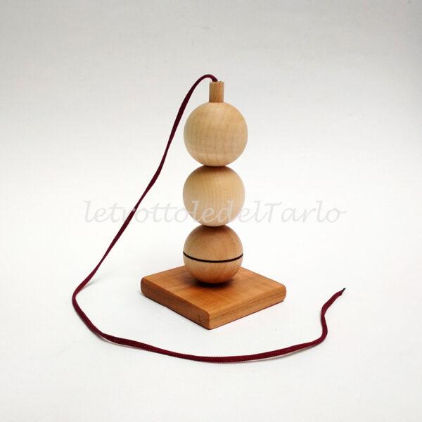 chioma di berenice: rompicapo in legno del Tarlo realizzato a mano