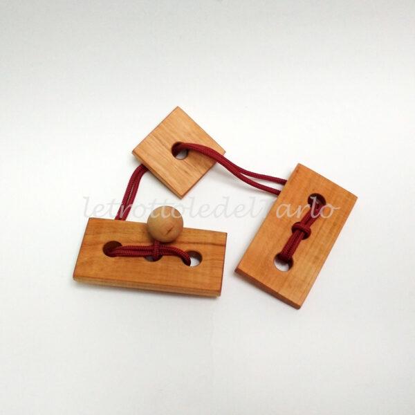 dragone: rompicapo in legno del Tarlo realizzato a mano