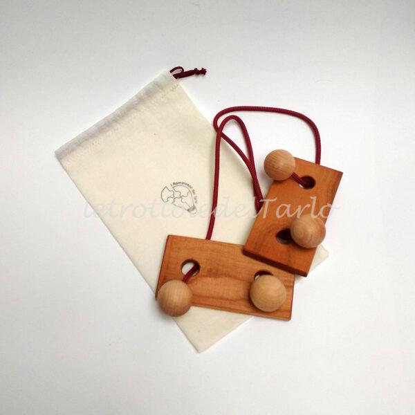 rompicapo gemelli con sacchetto