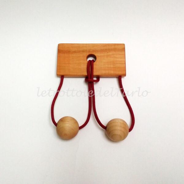 orsa maggiore: rompicapo in legno del Tarlo realizzato a mano