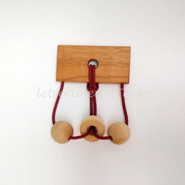 orsa minore: rompicapo in legno del Tarlo realizzato a mano