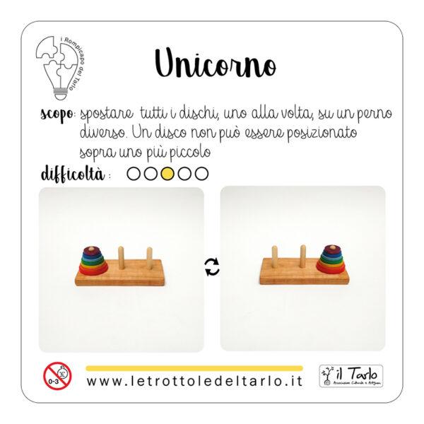 rompicapo unicorno istruzioni confezione