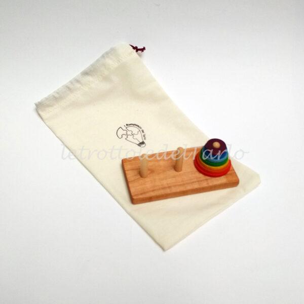 rompicapo unicorco con sacchetto